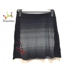 デシグアル Desigual スカート サイズL レディース 美品 黒×白×レッド 刺繍  値下げ 20190612