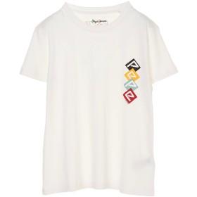 PEPE JEANS LONDON SAMMYロゴプリントTシャツ Tシャツ・カットソー,ホワイト