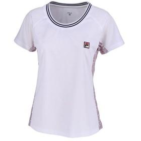 フィラ(FILA) レディース テニス ゲームシャツ ホワイト VL1949 01 半袖 Tシャツ ウェア トップス 練習 試合