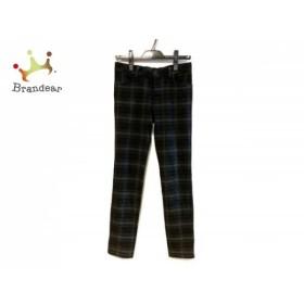 ジャスグリッティー パンツ サイズ0 XS レディース ダークグリーン×黒×ブルー チェック柄     スペシャル特価 20190803