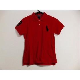 【中古】 ラルフローレン 半袖ポロシャツ レディース 新品同様 ビッグポニー レッド 黒 サイズ:L