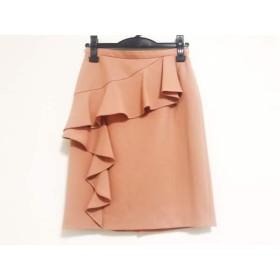 【中古】 ジャスグリッティー JUSGLITTY スカート サイズ1 S レディース ピンクベージュ フリル