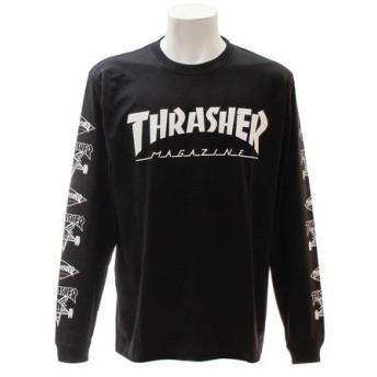 THRASHER 【オンライン特価】 MUG Multi 長袖Tシャツ TH8302MLBLK (Men's)