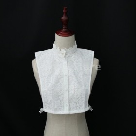 IPOTCH レース襟 シャツ襟 付け襟 レディース かわいい 着脱可能 ホワイト