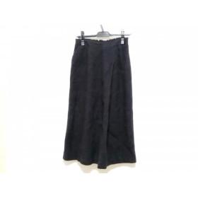 【中古】 レリアン Leilian ロングスカート サイズ9 M レディース ブルー 黒 ダークブラウン