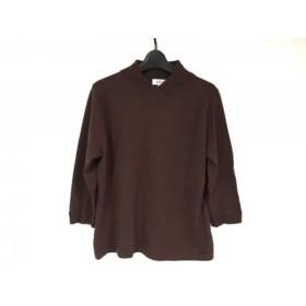 【中古】 ジユウク 自由区/jiyuku 長袖セーター サイズ46 XL レディース ダークブラウン