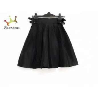 ルシェルブルー LE CIEL BLEU ミニスカート サイズ38 M レディース 黒 プリーツ/シルク スペシャル特価 20190803