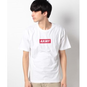 【23%OFF】 ウィゴー WEGO/ARMYボックスロゴTシャツ ユニセックス ホワイト L 【WEGO】 【セール開催中】