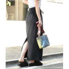 Ray BEAMS / カット スリット マキシ スカート◇ レディース マキシ・ロング丈スカート BLACK 1