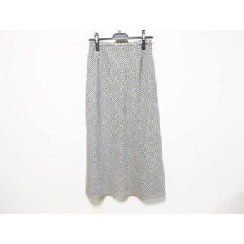 【中古】 ヨークランド YORKLAND ロングスカート サイズ11 M レディース 黒 白 チェック柄