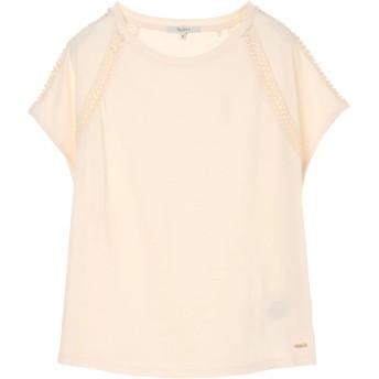 PEPE JEANS LONDON MAILYSクルーネックTシャツ Tシャツ・カットソー,ベージュ