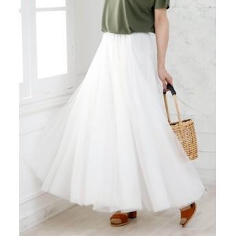 ガーリードール チュールロングスカート レディース ホワイト 80cm 【Girly Doll】