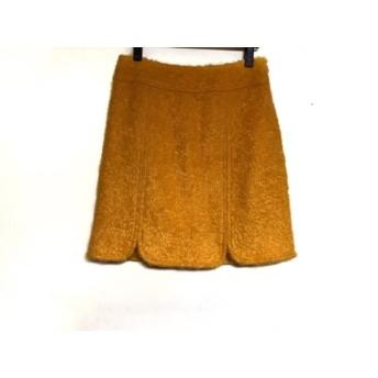 【中古】 ミリー MILLY スカート サイズ0 XS レディース オレンジ