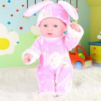ベビードール 赤ちゃんモデル 新生児人形 現実的 おもちゃ 衣装 手足と頭可動 教育道具 ピンク