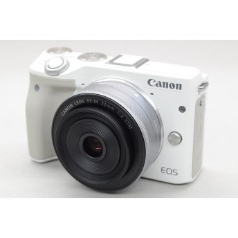 [中古] Canon EOS M3 WL-KIT(18-55mm、22mm)(WH)
