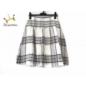 オールドイングランド スカート サイズ36 S レディース 美品 白×ネイビー×マルチ チェック柄   スペシャル特価 20190504