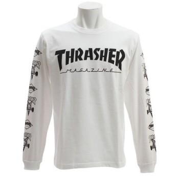 THRASHER 【オンライン特価】 MUG Multi 長袖Tシャツ TH8302MLWHT (Men's)