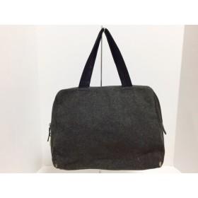 【中古】 プラダ PRADA ハンドバッグ - - ダークグレー 黒 ウール