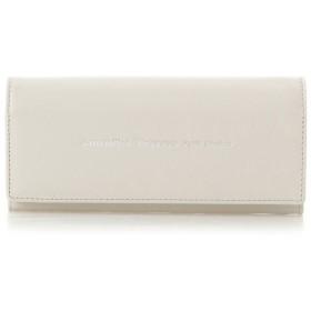 サマンサタバサプチチョイス シンプルレザーロゴ 長財布 グレージュ