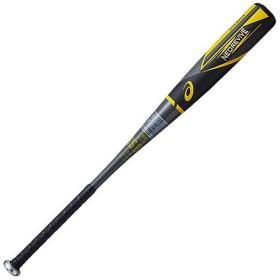 アシックス(asics) 軟式野球 金属バット NEOREVIVE ネオリバイブ ブラック×イエロー 3121A235 001 野球 軟式 金属 バット 一般 大人