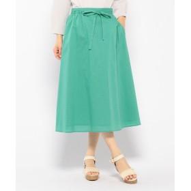 Petit Honfleur プチ オンフルール 綿リヨセルストライプ柄スカート