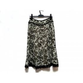 【中古】 レリアン Leilian ロングスカート サイズ11 M レディース 花柄