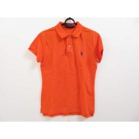 【中古】 ラルフローレン RalphLauren 半袖ポロシャツ サイズL レディース オレンジ