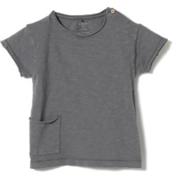 PLAY UP / ベビー ポケット ショートスリーブ Tシャツ 19 (1~2才) キッズ Tシャツ GREY 2y