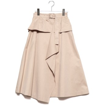 リリーブラウン Lily Brown ベルト付きトレンチスカート (ベージュ)