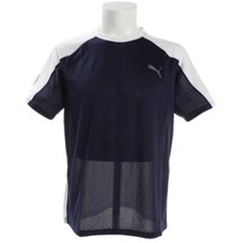 【Super Sports XEBIO & mall店:トップス】【ゼビオ限定】 A.C.E. ブロック 半袖Tシャツ 518003 02 NVY