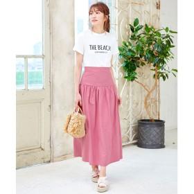 コウベレタス KOBE LETTUCE スカート&ベアで着れる 2wayロングスカート (ピンク)