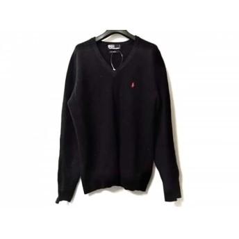 【中古】 ポロラルフローレン POLObyRalphLauren 長袖セーター サイズS メンズ ネイビー