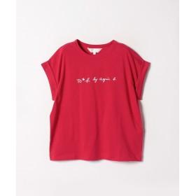 アニエスベー W984 TS ロゴTシャツ レディース レッド 38(M) 【agnes b.】