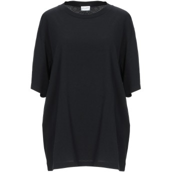 《期間限定セール開催中!》SAINT LAURENT レディース T シャツ ブラック L コットン 100%