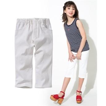 ストレッチツイル6分丈スキニーパンツ(女の子 子供服。ジュニア服) パンツ