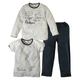 【リラックマ】2トップスパジャマ(女の子 子供服 ジュニア服) キッズパジャマ