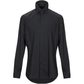 《期間限定セール開催中!》LOW BRAND メンズ シャツ ブラック 2 コットン 97% / ポリウレタン 3%