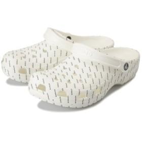 【crocs】 クロックス Crocband Seasonal Graphic Clog クロックバンドシーズナルグラフィッククロッグ 205706-103 White/Black 25cm