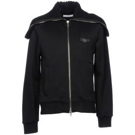 《期間限定 セール開催中》GIVENCHY メンズ スウェットシャツ ブラック S ナイロン 55% / コットン 45% / ウール / 牛革(カーフ)