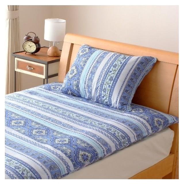 綿混抗菌防臭加工 地中海風柄枕カバー(エルニド) 枕カバー・ピローパッド