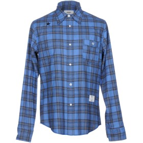 《期間限定セール開催中!》THE EDITOR メンズ シャツ ブルー 40 コットン 100%