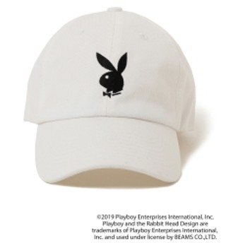 PLAYBOY×BEAMS GOLF / 別注 ロゴ キャップ メンズ キャップ WHITE ONE SIZE