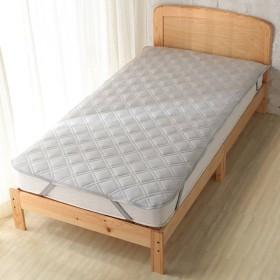 敷パッドひんやりフィット&綿パイル グレー シングル ホームコーディコールド シングル 敷きパッド