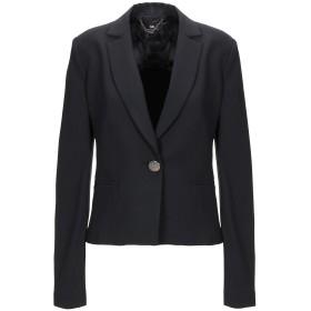 《期間限定セール開催中!》ELISABETTA FRANCHI レディース テーラードジャケット ブラック 44 ポリエステル 90% / ポリウレタン 10%