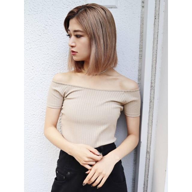 [EMODA]ワイドリブショートTシャツ