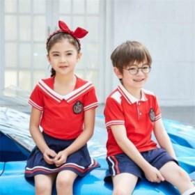 韓國 子供服 キッズ 海軍風 女の子 春夏 Tシャツ セーラー服 半袖 子供Tシャツ ボーダー柄 キッズ 男の子 上下セット 運
