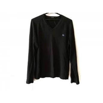 【中古】 バーバリーブラックレーベル Burberry Black Label 長袖カットソー サイズ3 L メンズ 黒