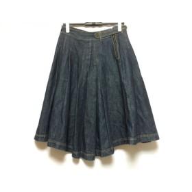 【中古】 ロイスクレヨン Lois CRAYON ロングスカート サイズM レディース ネイビー デニム