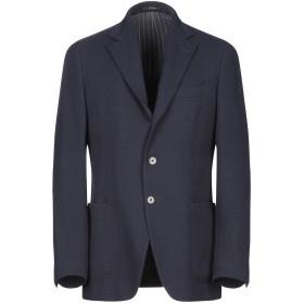 《期間限定 セール開催中》LARDINI メンズ テーラードジャケット ダークブルー 50 ウール 100%