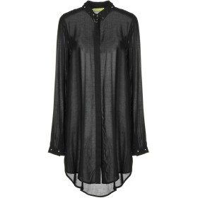 《期間限定 セール開催中》VERSACE JEANS レディース シャツ ブラック 40 レーヨン 100%